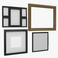 3d picture frames modeled model