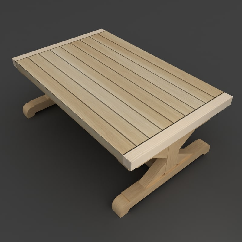 ladder dining table 3d model