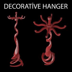 decorative hanger 3d model