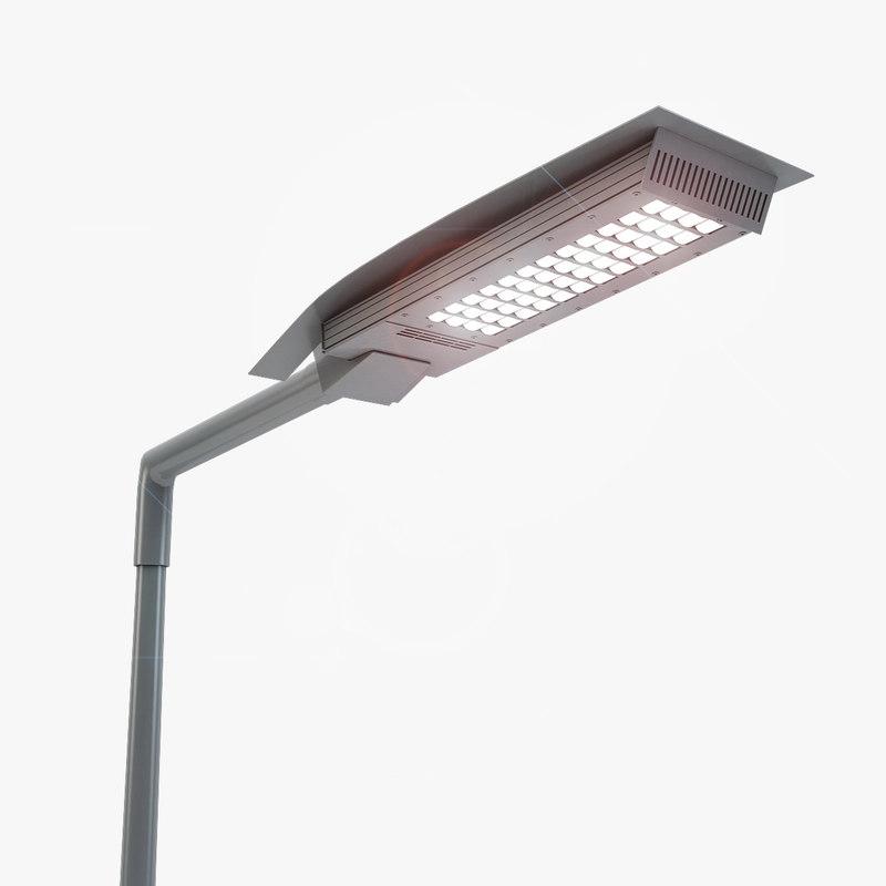 rosa led street lamp 3d model