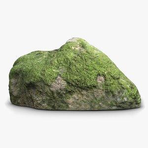 mossy stone 3d model