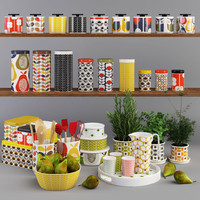 set orla kiely 3d model
