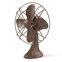 3d vintage electric fan