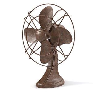 3d vintage electric fan