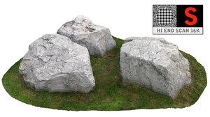 3d model dolomite rock scan hd