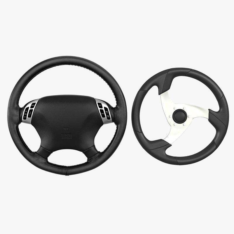 3d model steering wheels