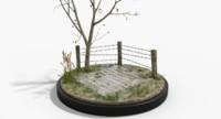 outdoor diorama scene 3d model