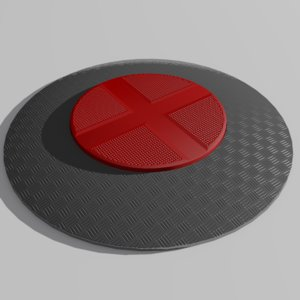 3ds max red floor button