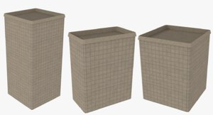 3d set hesco barriers