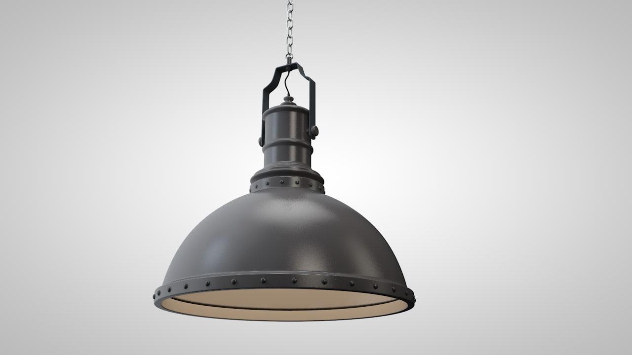 cinema4d farmhouse lamp
