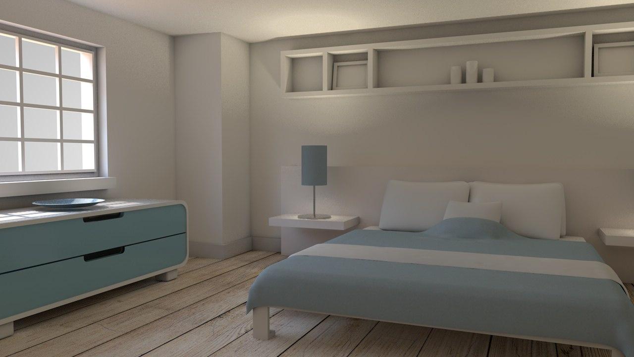 c4d bedroom