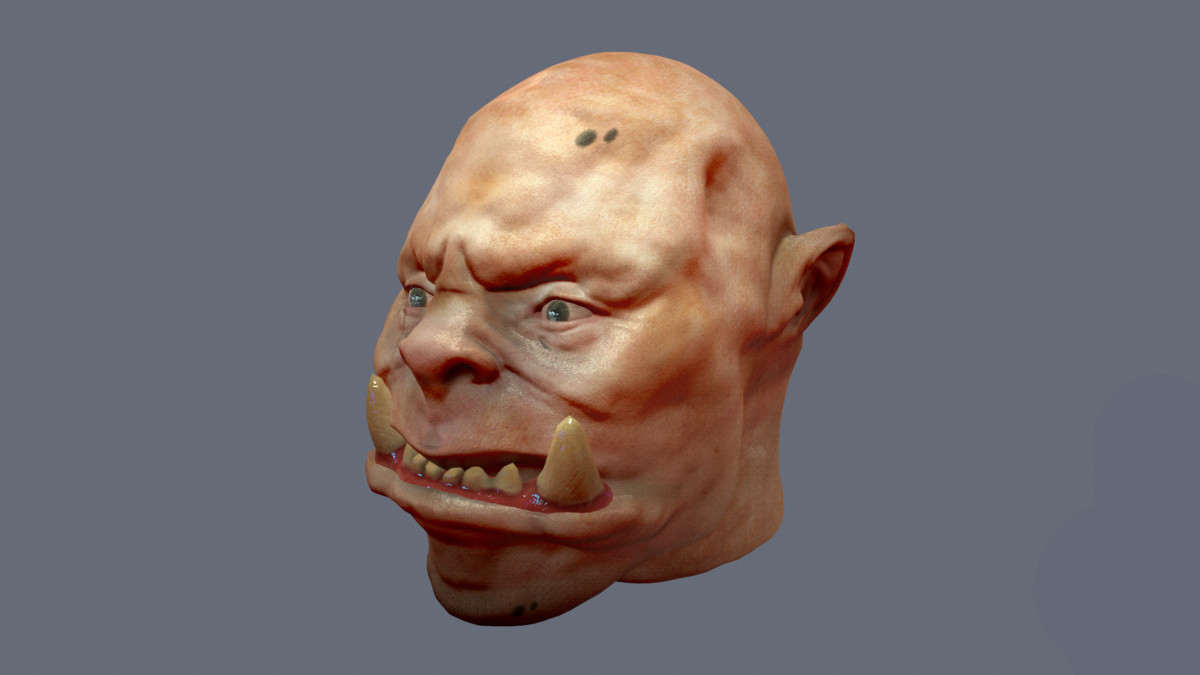 3ds max head