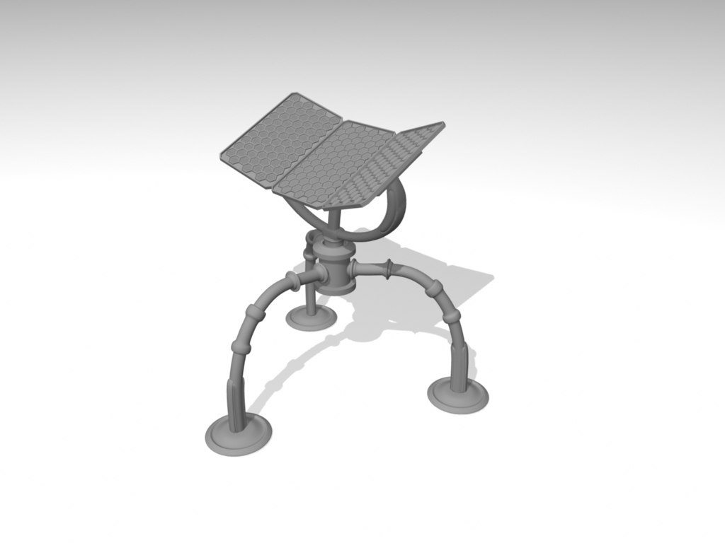 free solar panel 3d model