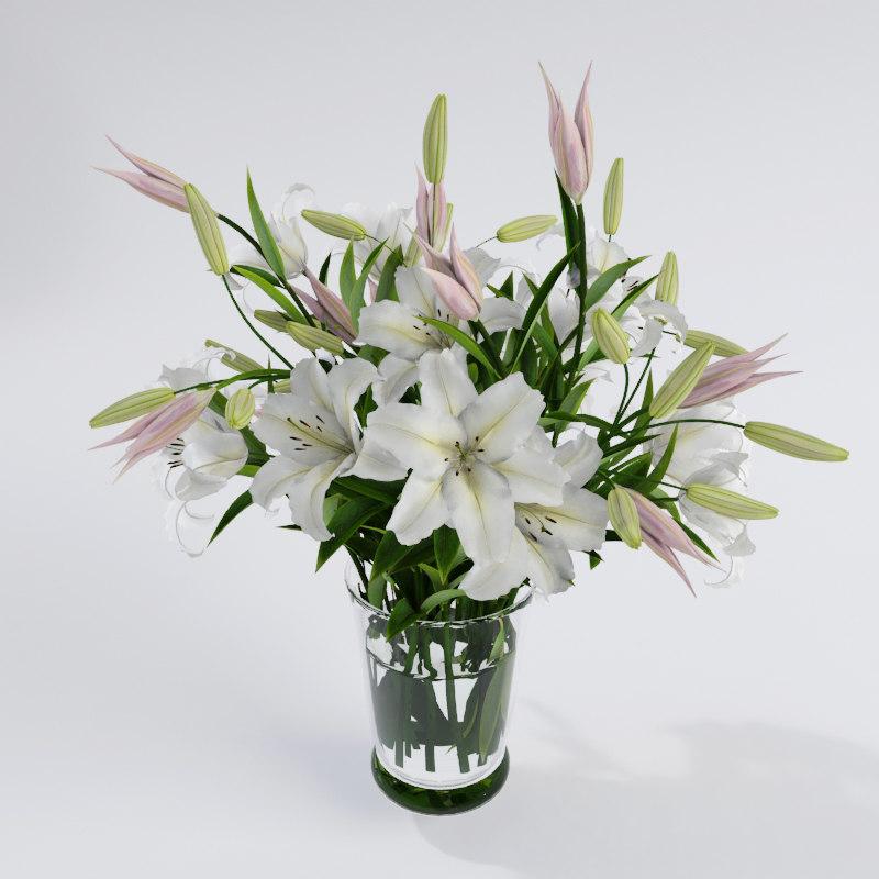 3d realistic lilys