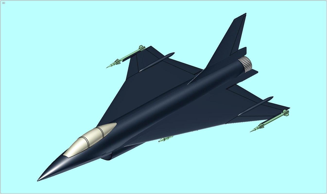 general dynamics f-16xl aircraft 3d dwg