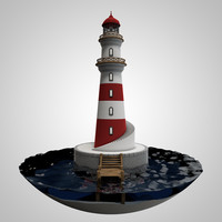 light house 3d c4d