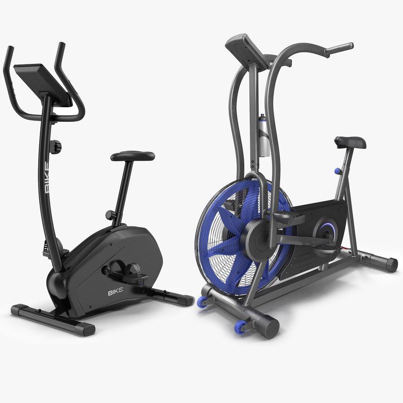 exercise bikes modeled 3d c4d