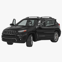 3d jeep cherokee 2015 rigged