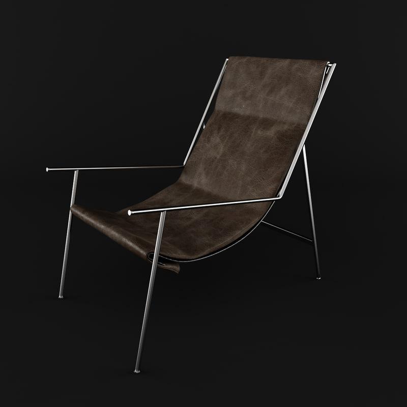 3ds max armchair metal legs