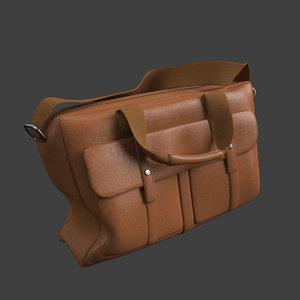 leather bag 3d 3ds