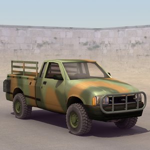 maya army pickup truck
