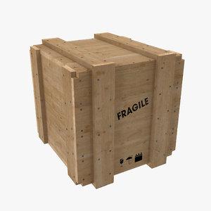 3d wood box wooden