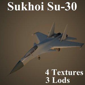 sukhoi air low-poly 3d ma