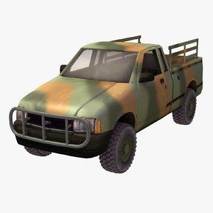 military pickup truck dwg