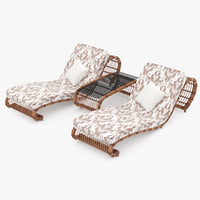 rattan lounger max