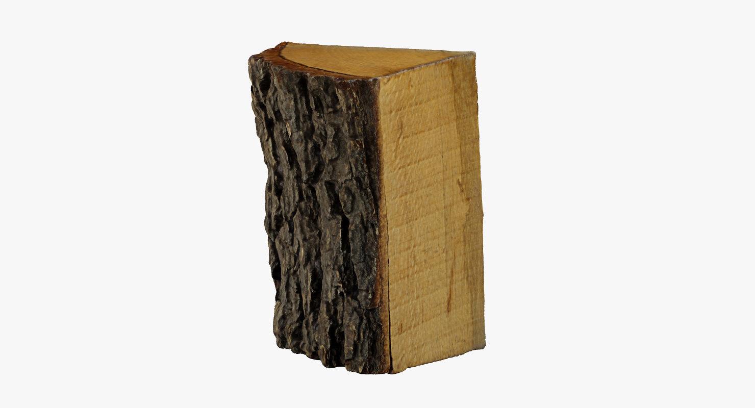 3d model wood log