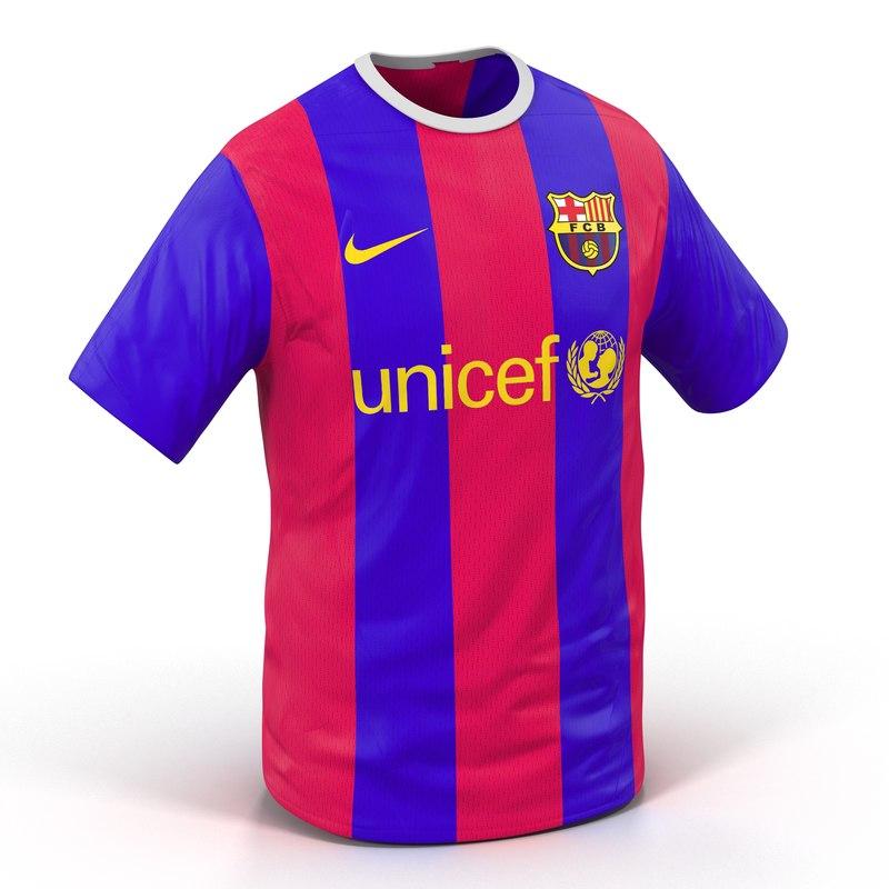 3d model t-shirt barcelona modeled