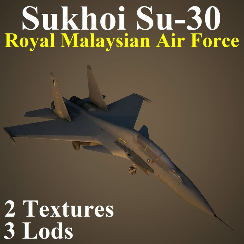 3d max sukhoi rmf fighter aircraft