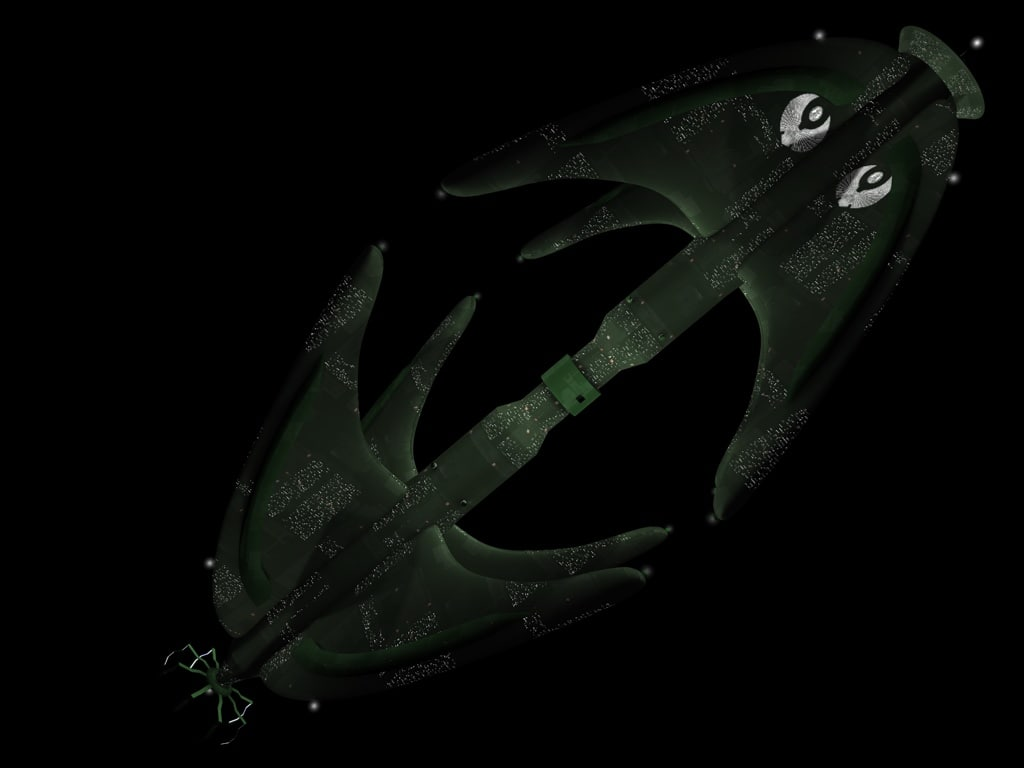 3d model star trek romulan starbase