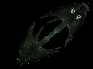 3d model star trek romulan starbase