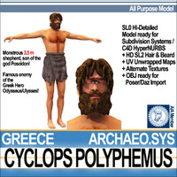 ancient greek cyclops polyphemus 3d model