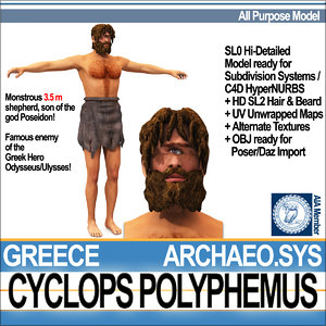 ancient greek cyclops polyphemus 3d model