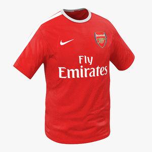 t-shirt arsenal 3d model