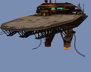 3d model scifi platform