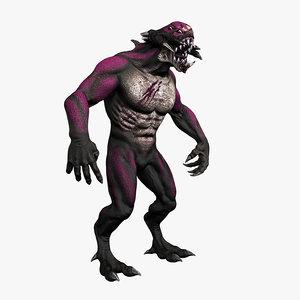 3d animation monster model