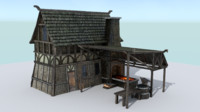 forge medieval village blacksmith fbx