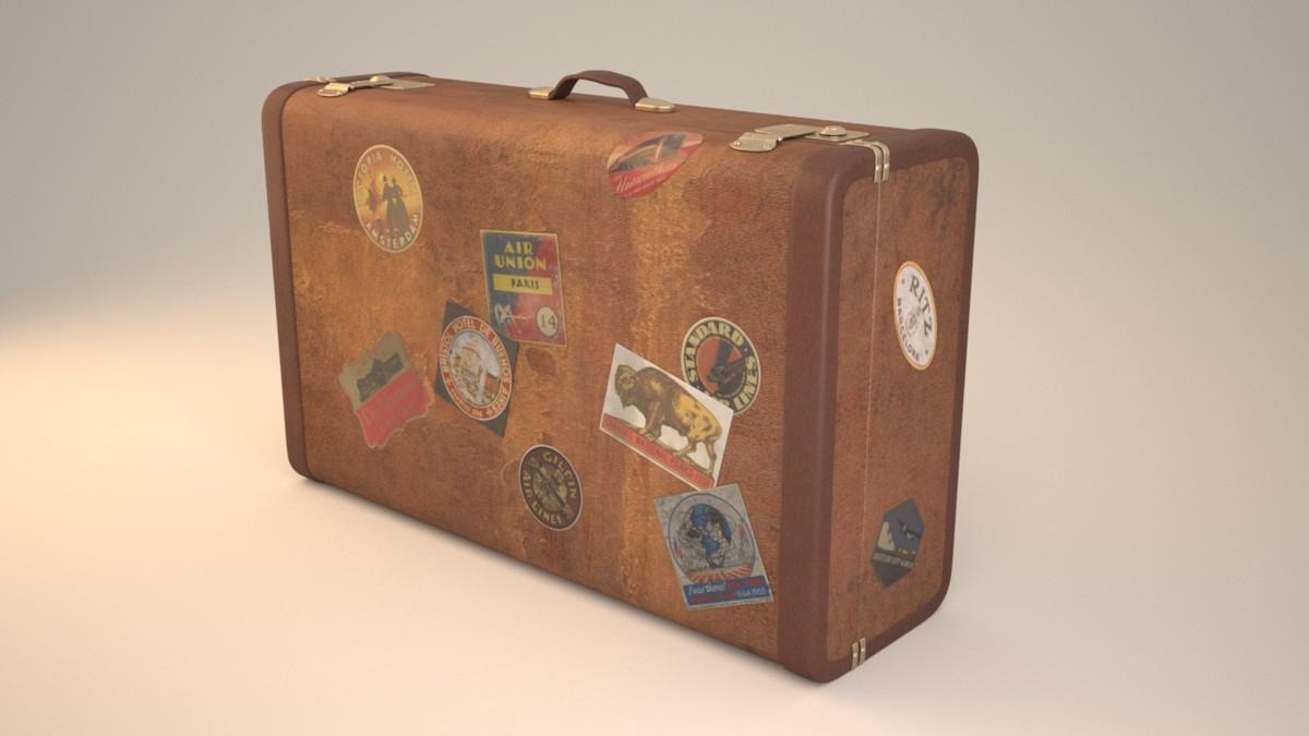 3d travel suitcase model