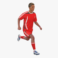 3d model of soccer player generic rigged