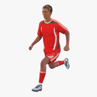 3d soccer player generic rigged model