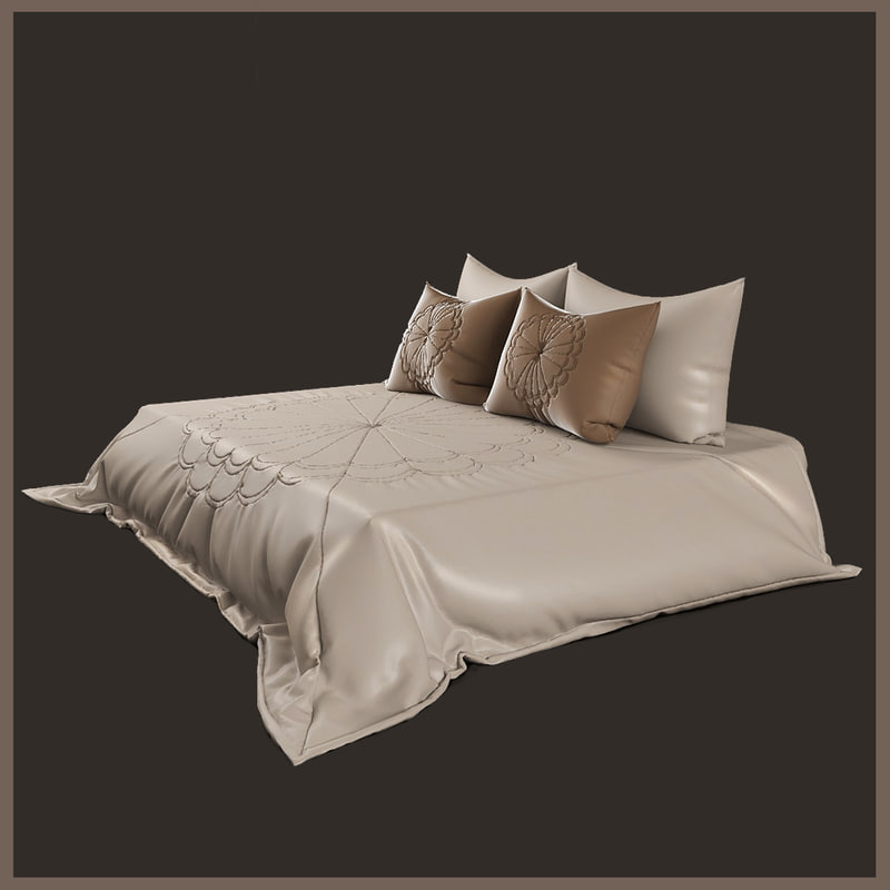 pillows bedspread 3d x