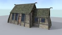 3d model house medieval village