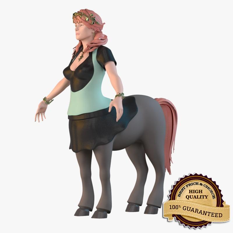 3d model female centaur