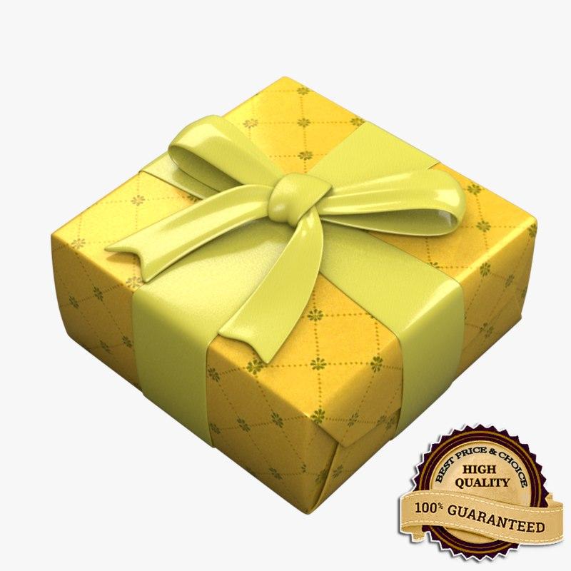 giftbox holidays birthdays 3d model