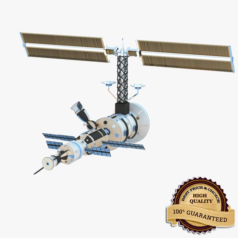 3d satellite realistic modeled model