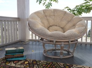 papasan chair 3d model