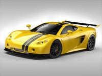 ascari car 3d model